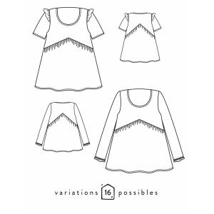 Patron Blouse / robe VIREVOLTE Atelier Scammit mode femme