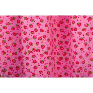 Jersey fraises fond rose graphique retro