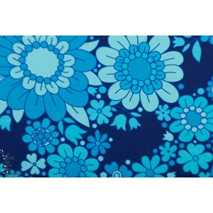 Jersey Blue Blossom Vintage of my heart fleur bleu retro