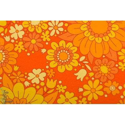 jersey yellow blossom Vintage in my Heart fleur retro orange mode femme