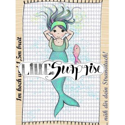 panneau Serviette Meerjungfrau 1susalabim lillestoff sirene mermaid plaid plage