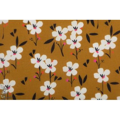 rayon Dashwood Studio Soirée Spring 1506 brown fleur moutarde susan driscol