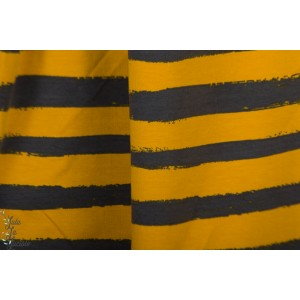 Sweat Poppy Groovy stripes noir jaune