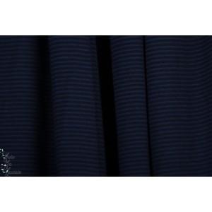 jersey modal rayé dunkelblau noir