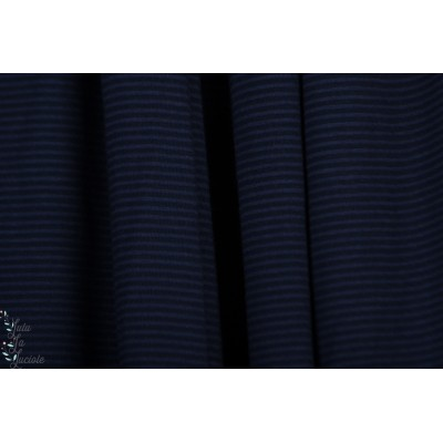 jersey modal rayé dunkelblau noir lillestoff marine