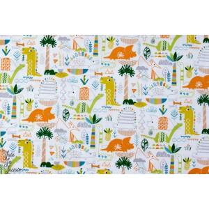 tissu popeline de coton Dinosaures - DINO 1153 - Dashwood studio