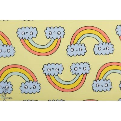 Sweat Bio Rainbow Eva Mouton arc en ciel vintage retro enfant jaune