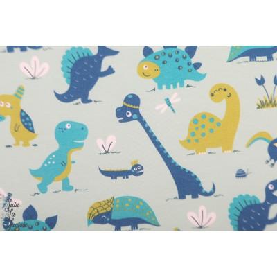 Jersey Bio Dinosaurr blue Lillestof dinosaure bora layette enfant