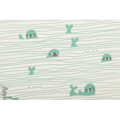 Jersey bio Stripy Seals Lillestoff par Bora enfant layette rayure otarie