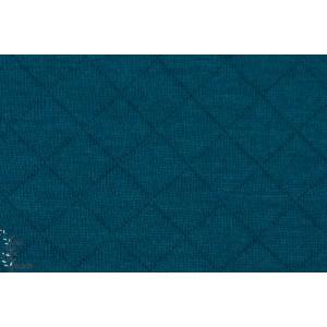 Sweat France duval Stalla Jersey Matelassé canard bleu vert essence