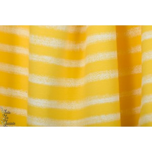 Sweat french terry See You At Six  Chalk Stripes - Habanero yellow