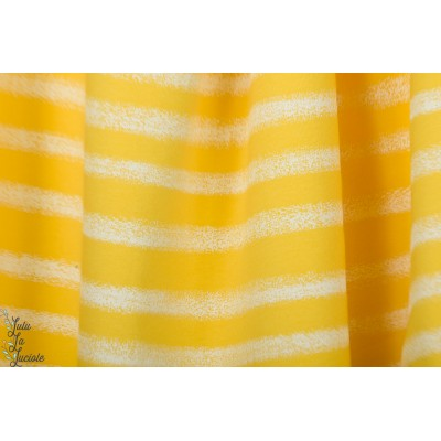 Sweat french terry See You At Six  Chalk Stripes - Habanero yellow jaune rayure