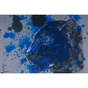 Jersey bio Black Panther Lillestoff animaux felin panthere noire enfant