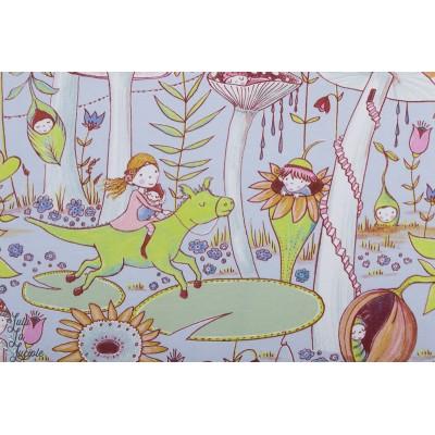 Jersey bio Pilzwald SUSAlabim Lillestoff layette enfant forêt champignon lutin fée