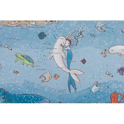 Jersey Bio SUSAlabim Save the Ocean mer pollution ecolo baleine sirene lillestoff