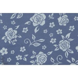 tissu coton Jacquard Wild Rose vintage Bleu lillestoff susalabim couture femme