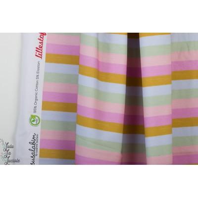 Jersey bio raye pastel arc en ciel Regenbogenringel pastell susalabim Lillestoff