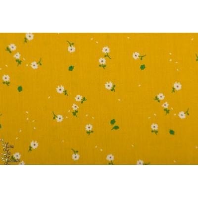 Popeline Bio Birch Sunny Daisies fleur jaune nature whistle