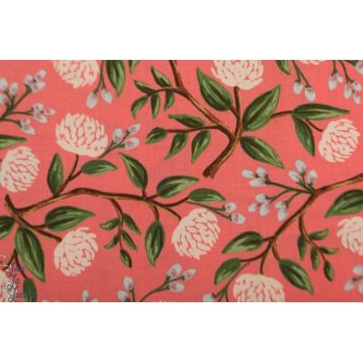 Popeline CS Wilwood peonies Pink pivoine fleur rose cotton steel