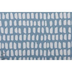 Modalsweat Stripe Stripe grau blau- weib Lillestoff