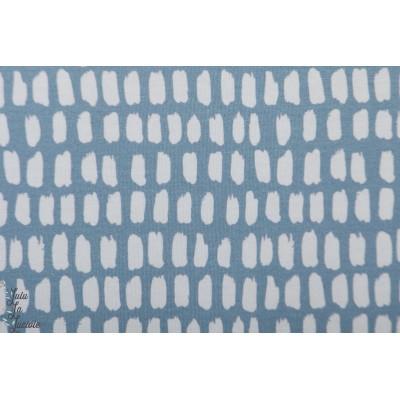 Modalsweat Stripe Stripe graublau weib lillestoff enemenemeins bleu blanc graphique