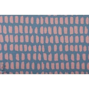 Modalsweat Stripe/stripe graublau pastell rosa Lillestoff