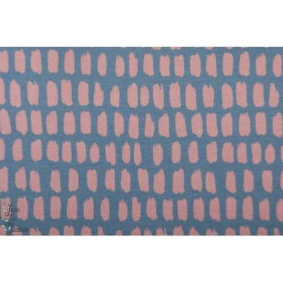 Modalsweat Stripe/stripe graublau pastell rosa Lillestoff enemenemeins graphqiue ete mode femme