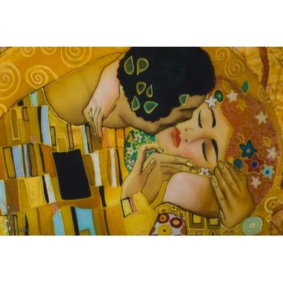 Panneau Jersey Digital ''le baiser' femme peinture stenzo