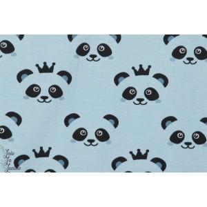 Jersey BIO  Stenzo Panda Gris BLEU couture enfant