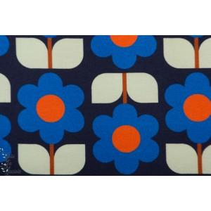 Jersey Lotte Blue Bonnie Buttermilk fleur retro vintage mode femme graphique