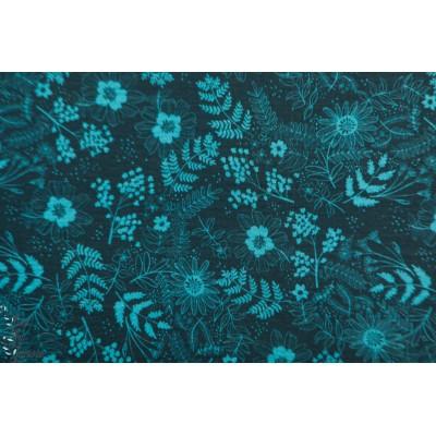 Modal Frida Floral turquoise Lillestoff mode femme bleu fleur enemenemeins