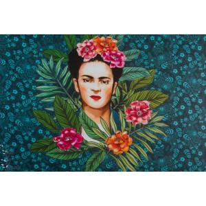 Panneau Modal lillestoff Frida mexique enemenemeins femme peinture fleur mode