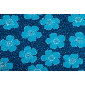 jersey Betty Blue Vintage of my heart grosse fleur bleu