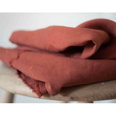 tencel/ linen Slub Meet Milk lin qualité textire marron terracota mode femme