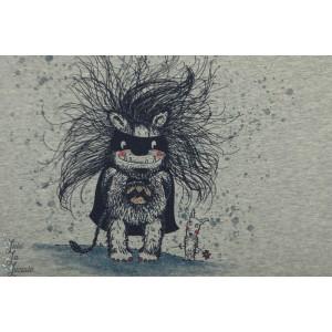 3 Panneaux Tshirt Monsterhelden Bio susalabim lillestoff monstre enfant
