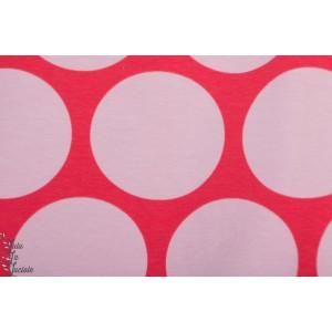 jersey bio Riesenpubkte rouge rose SUSAlabim Lillestoff