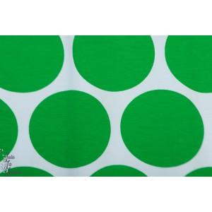 Jersey bio Riesenpunkte blanc vert SUSAlabim Lillestoff