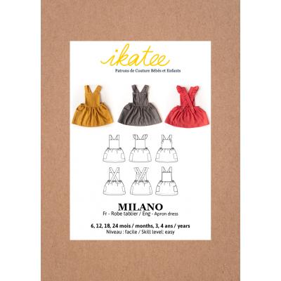 Patron Milano IKATEE 6mois - 4 ANS robe tablier fille bébé layette