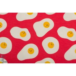 jersey Oeuf au plat sauce tomate graphique sourire enfant rouge