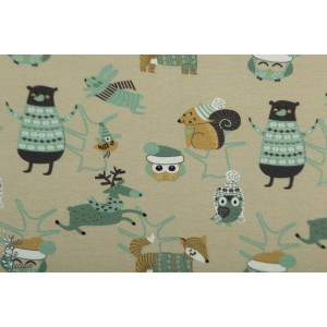 Jersey Stenzo Les animaux gris vert