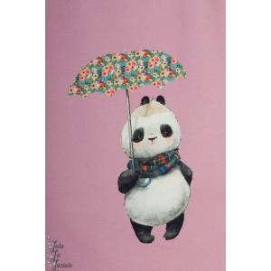 Panneau Sweat Stenzo ''avec mon joli parapluie lapin panda fille fleur