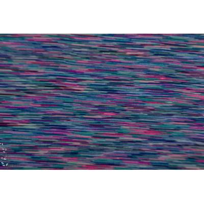 Jersey eleastique sport chiné coloré bleu rose