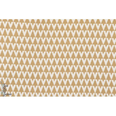 tissu coton couture femme Jacquard lillestoff triangle sable lillestoff susalabim
