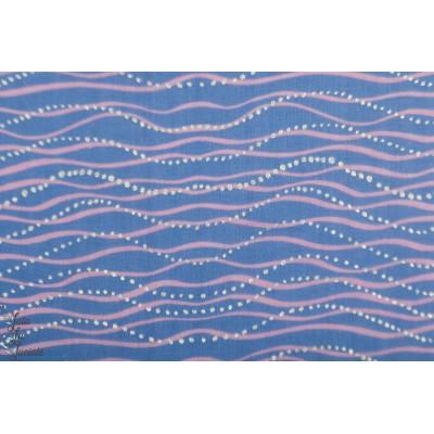 Double Gaze métallique vague rico mer bleu rose