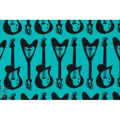 tissu coton jersey Bio Guitars Guitare  lillestoff