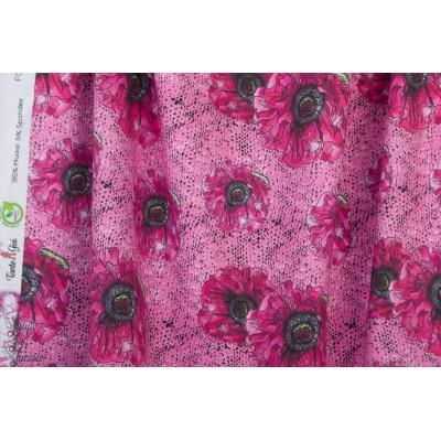 Modal Sweat Rosa Masche Lillestoff fleur anémone rose femme gisi