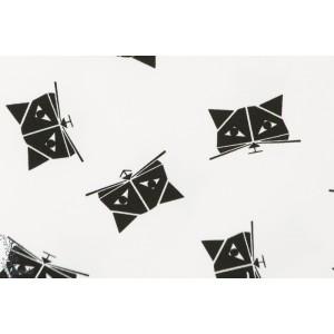 Jersey Kitten Chat origami blanc et noir