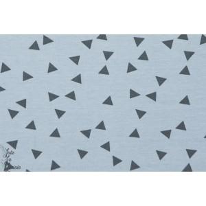 Jersey Triangles sue fond  bleu