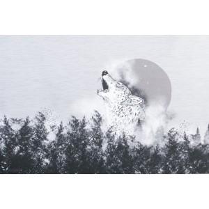 Panneau Jersey Bio Mystical Wolf Lillestoff
