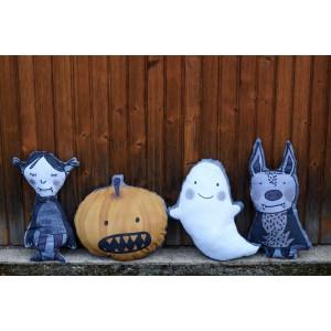 Kit coussin en Jersey Bio Halloween Kissen Lillestoff